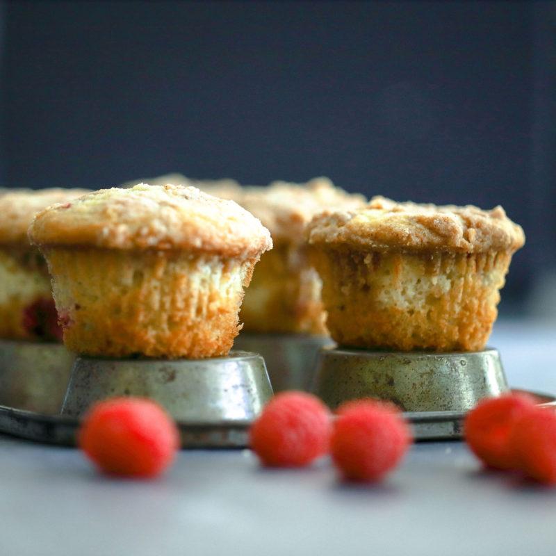 Raspberry Cheesecake Muffins