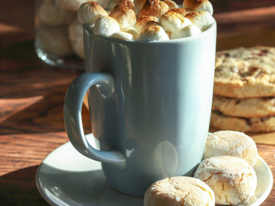 Double Hot Chocolate with Toasted Marshmallows
