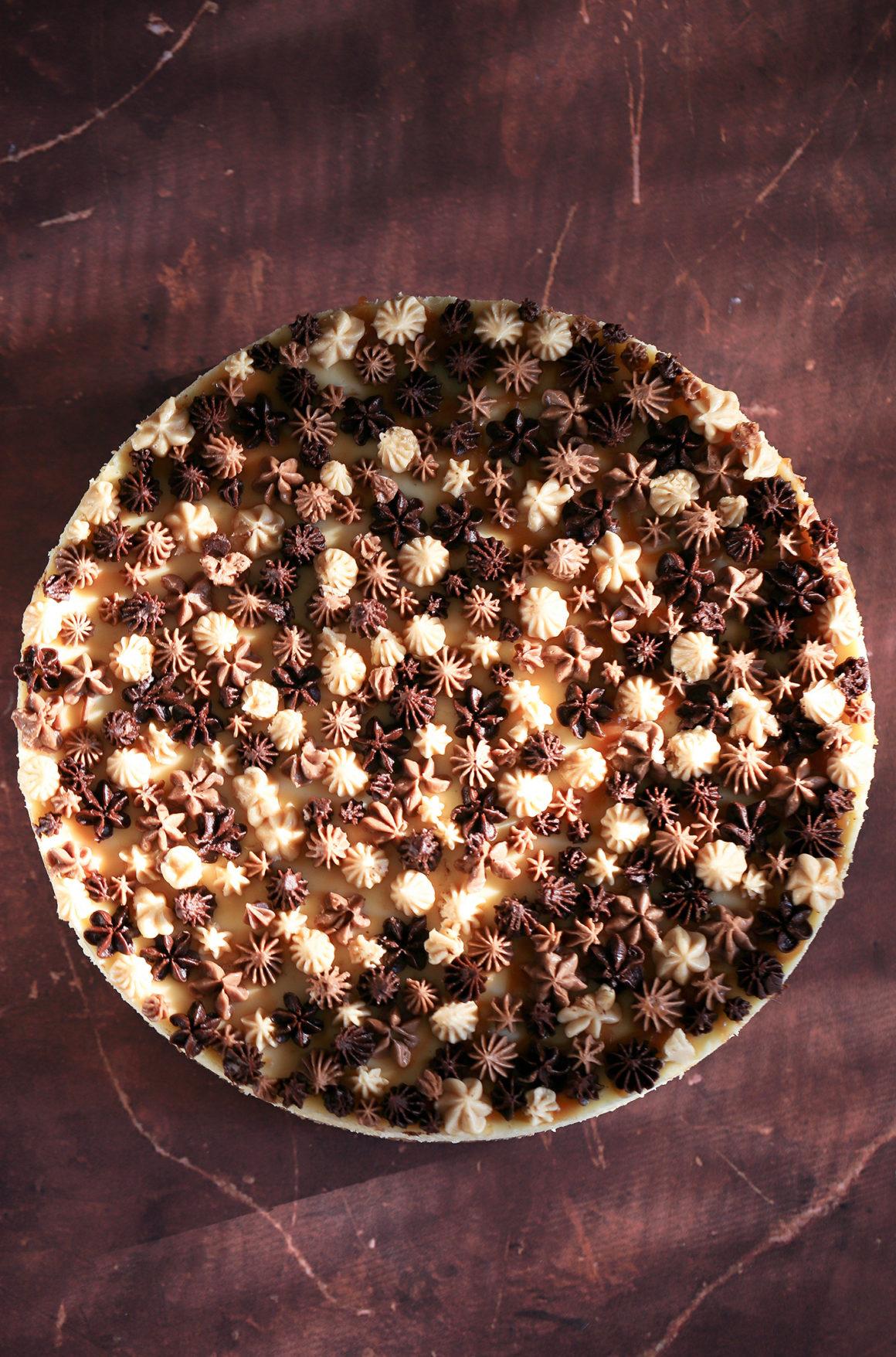 Decorated Vanilla Cheesecake