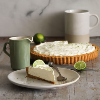 Ginger Lime Tart with Coconut Macadamia Crust