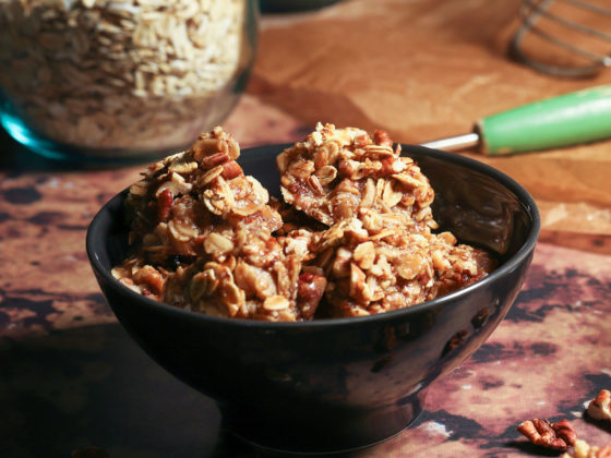 No-Bake Oatmeal Pecan Cookies