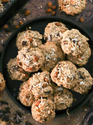 Dark Chocolate Almond Coconut Cookies