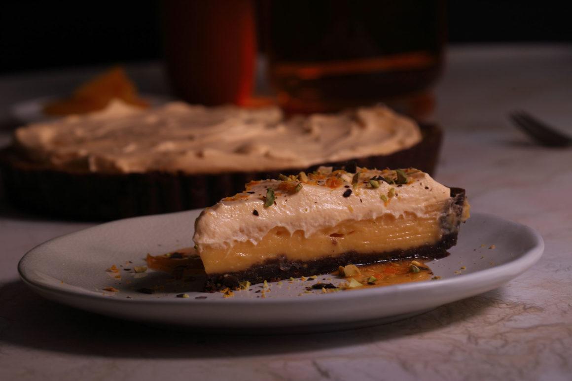 Orange Tart Slice Wide