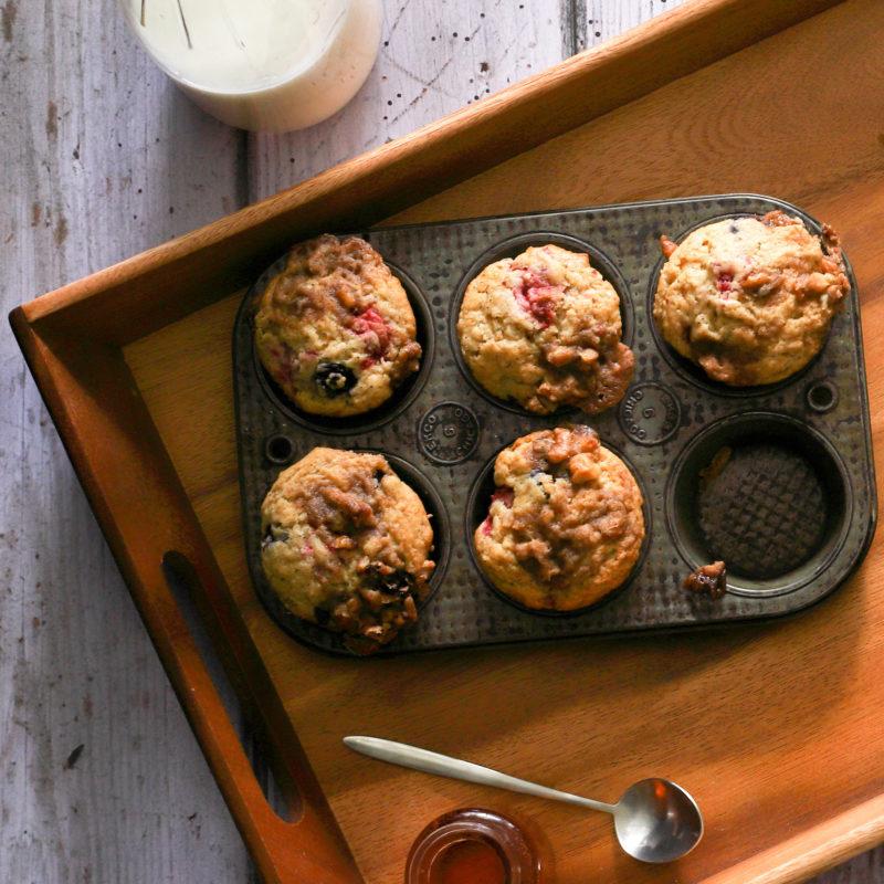 Raspberry Blueberry Muffins