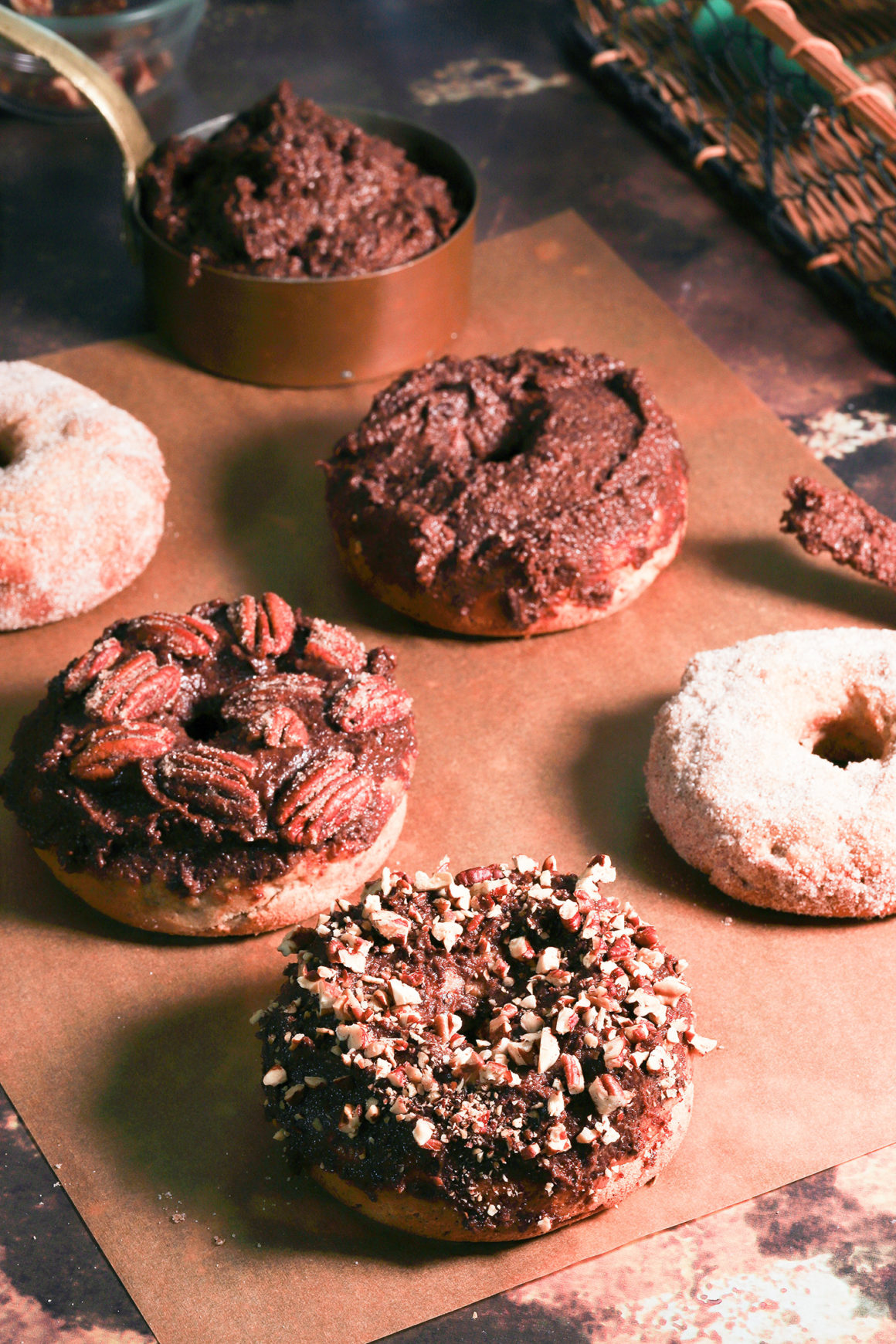 Assorted Baked Apple Doughnuts