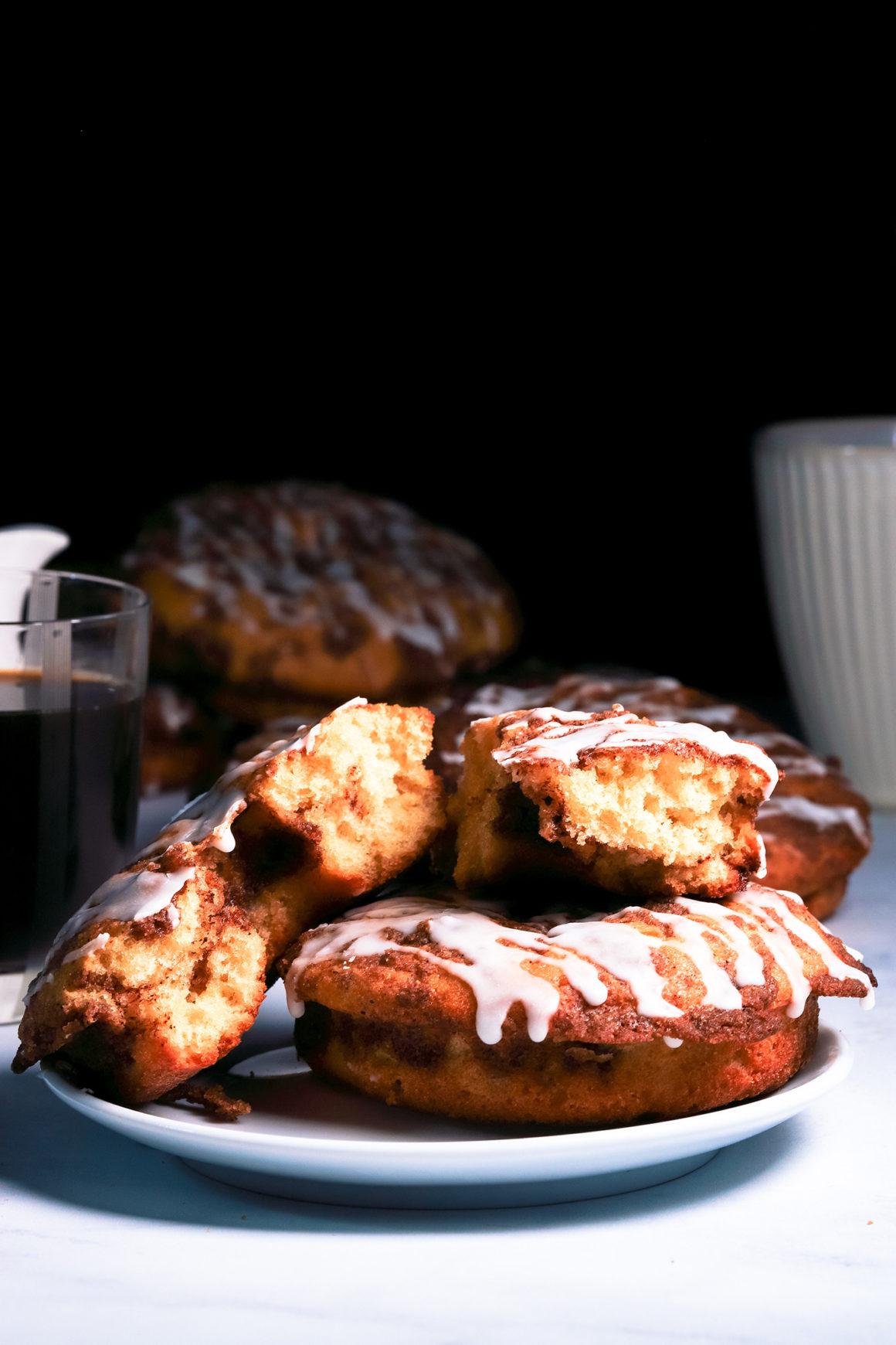 Coffee Cake Doughnuts Tall