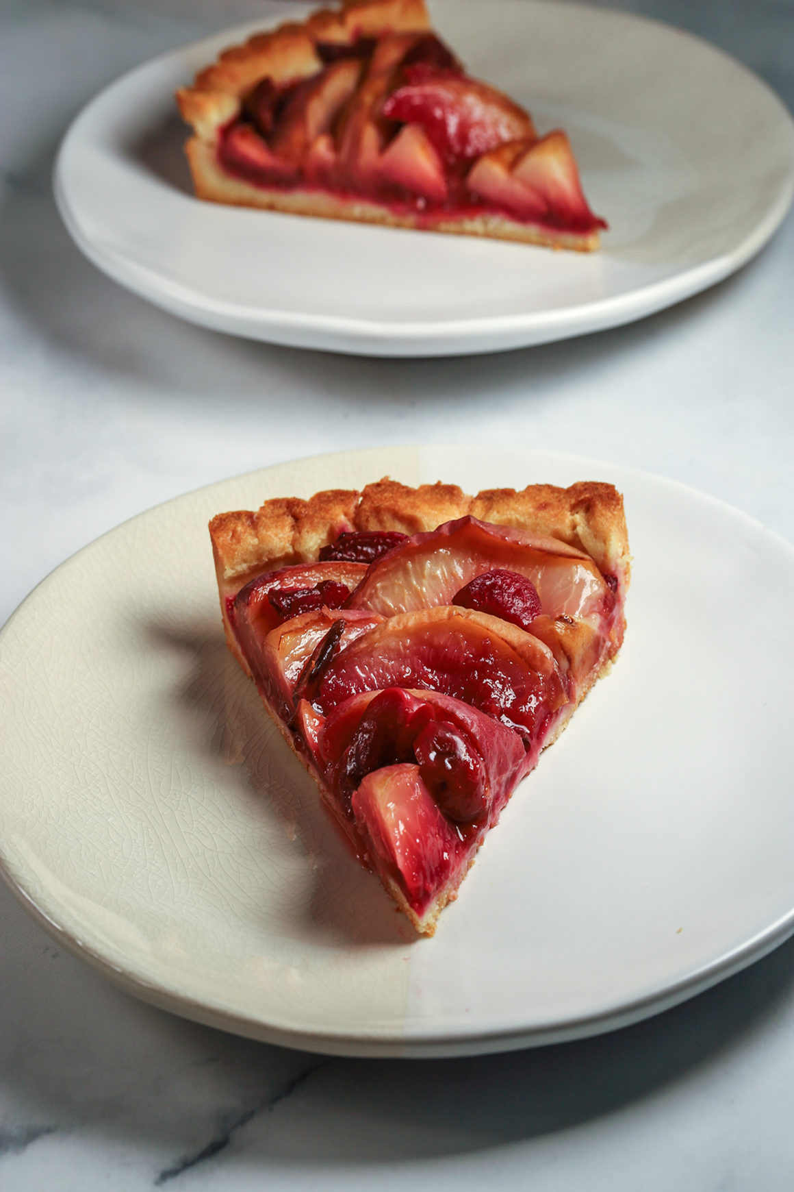 Two Slices of Peach Tart
