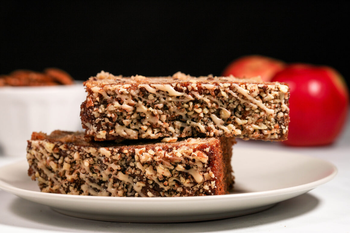 Apple Bread with Pecans and Apple Glaze