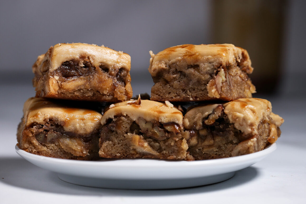 Dessert Bars with Apple, Pecans and Penuche Frosting