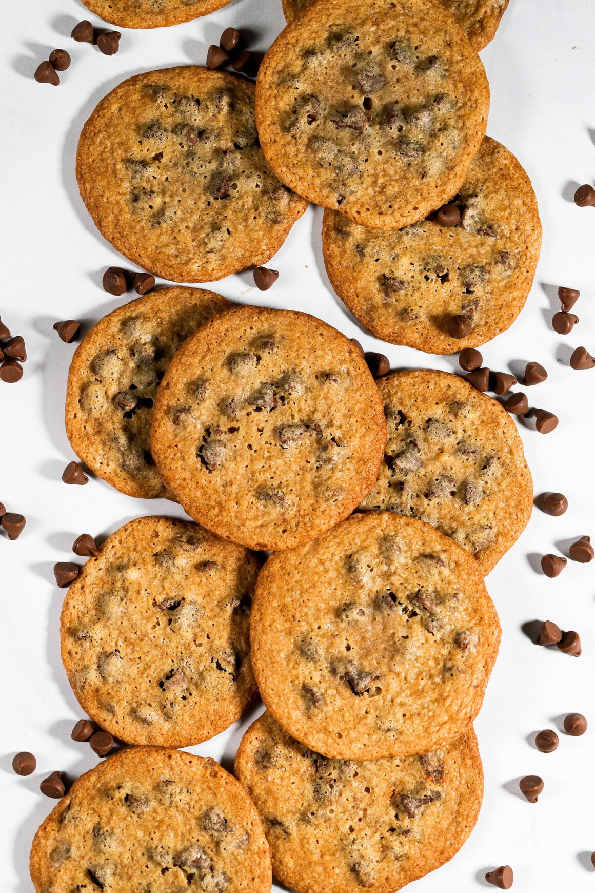 Chocolate Chip Cookies on Marble Counter