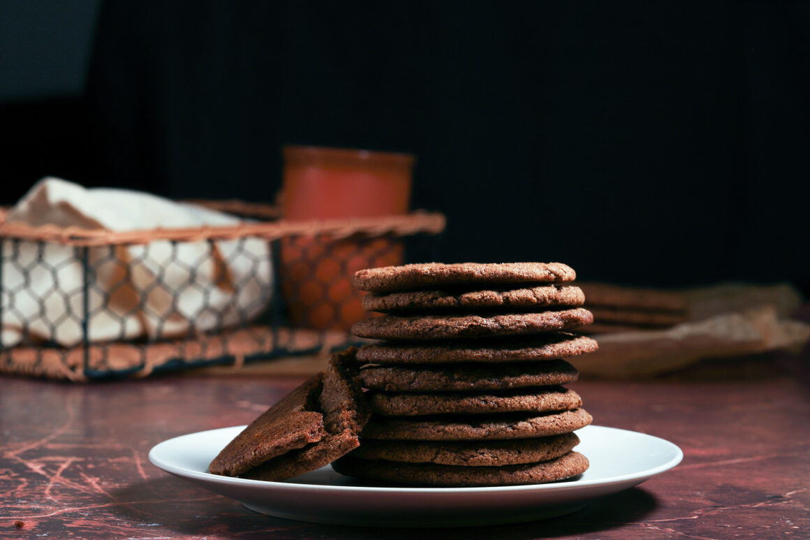 Stack of Gingersnap Cookies