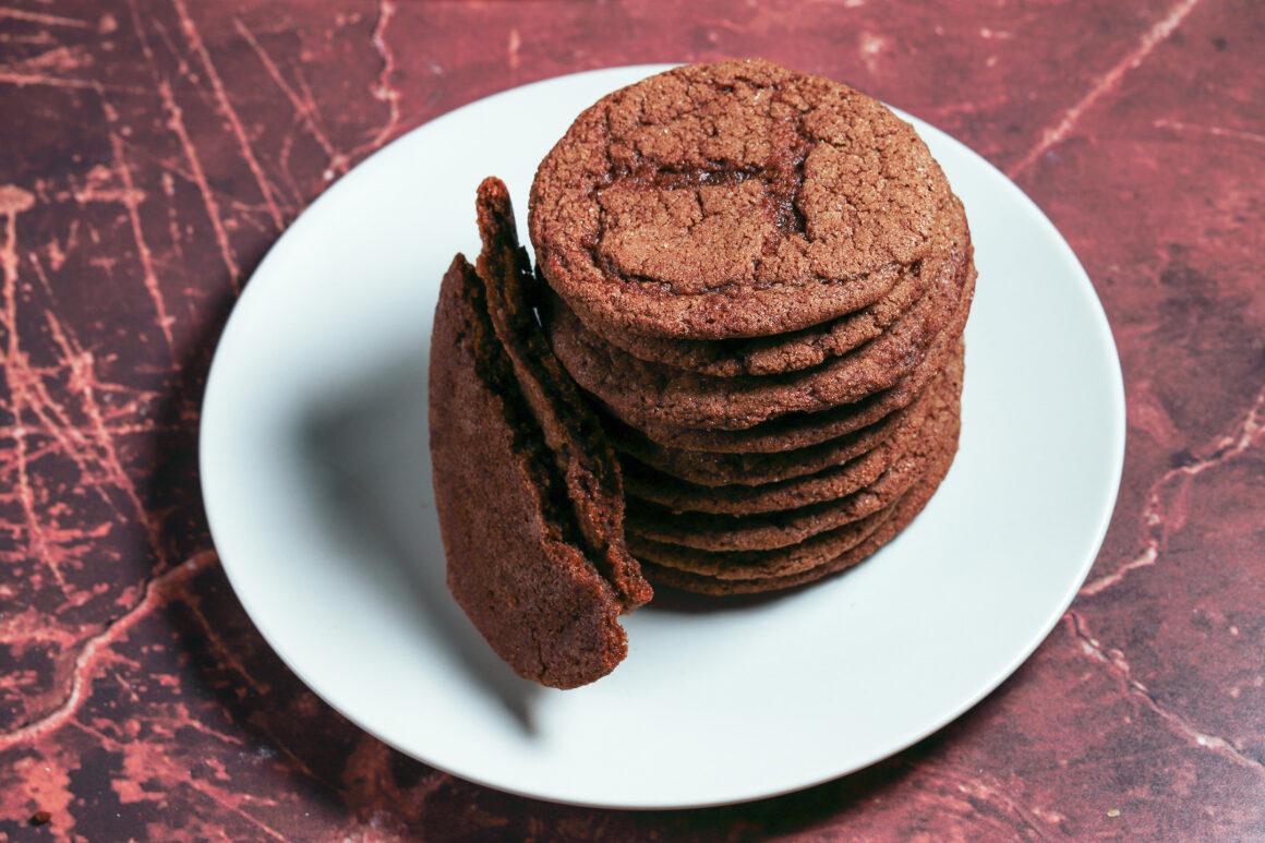 Gingersnap Cookie Closeup