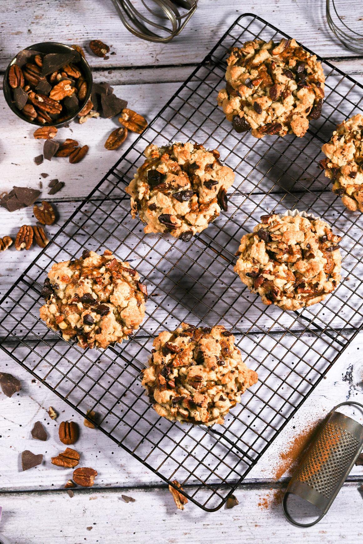 Pumpkin Muffins on Rack
