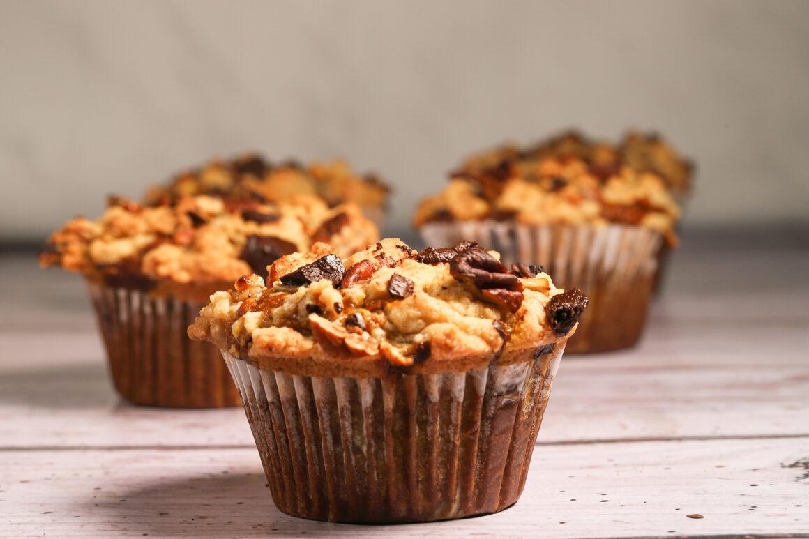 Pumpkin Muffins with Streusel