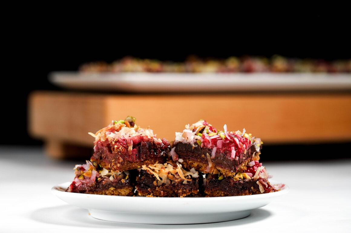 raspberry chocolate dessert bars wide