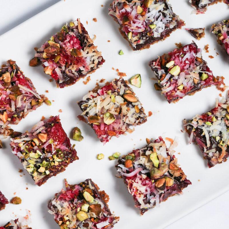 raspberry chocolate bars