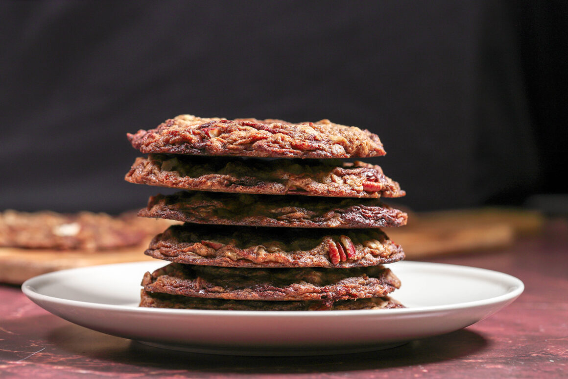 Chocolate Oatmeal Cookies with Pecans