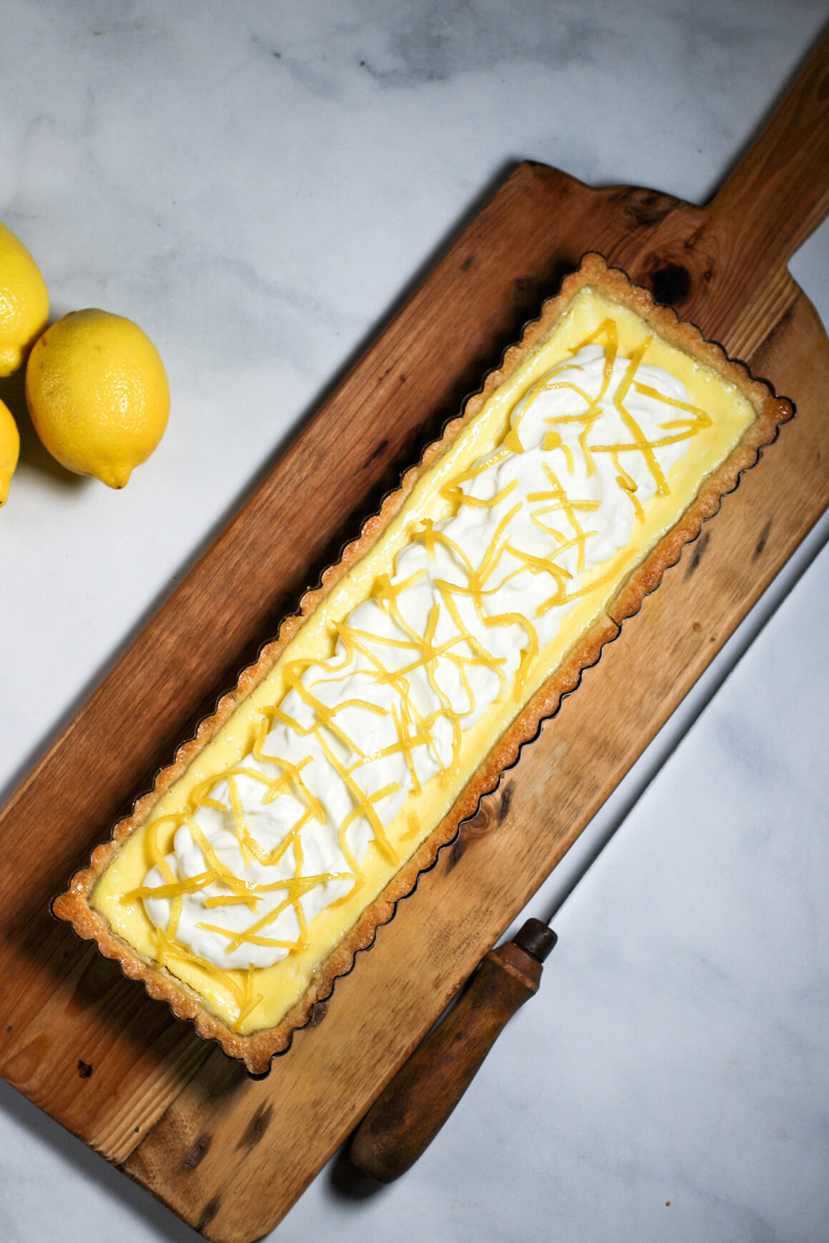 Lemon Mascarpone Tart Whole