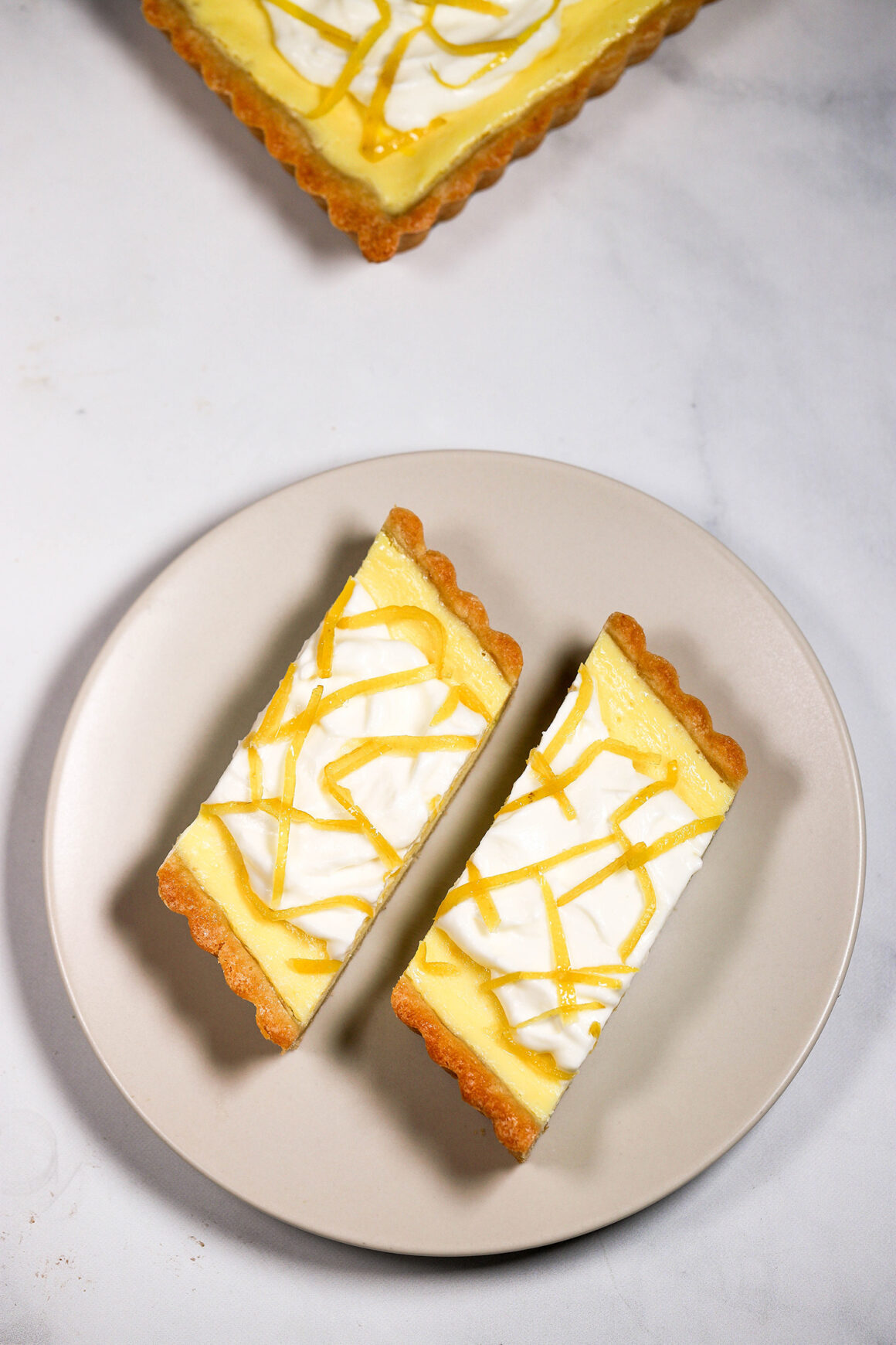 Lemon Mascarpone Tart Double Slice