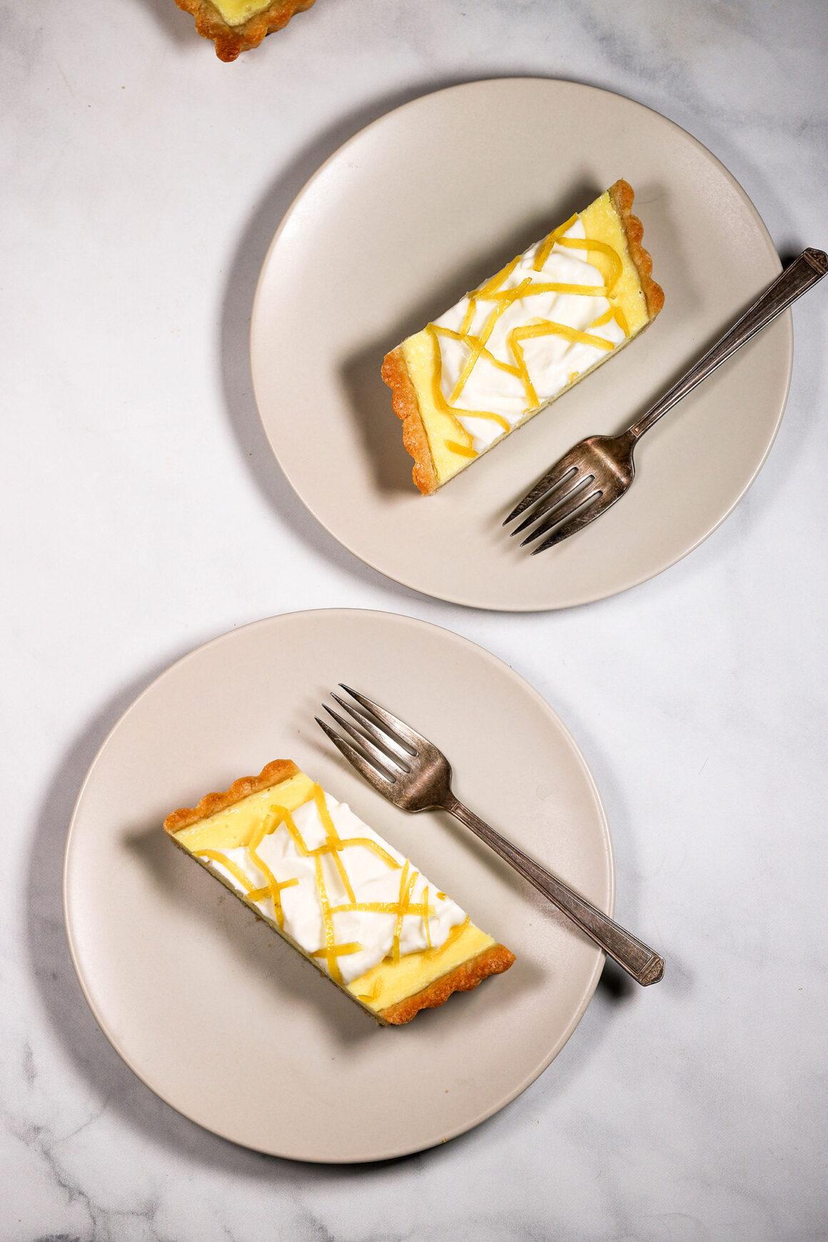 Plated Lemon Mascarpone Tart