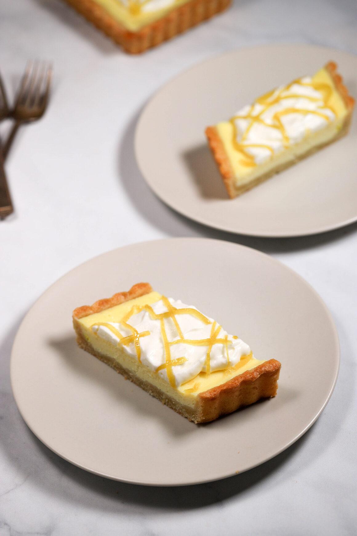 Lemon Mascarpone Tart Slices