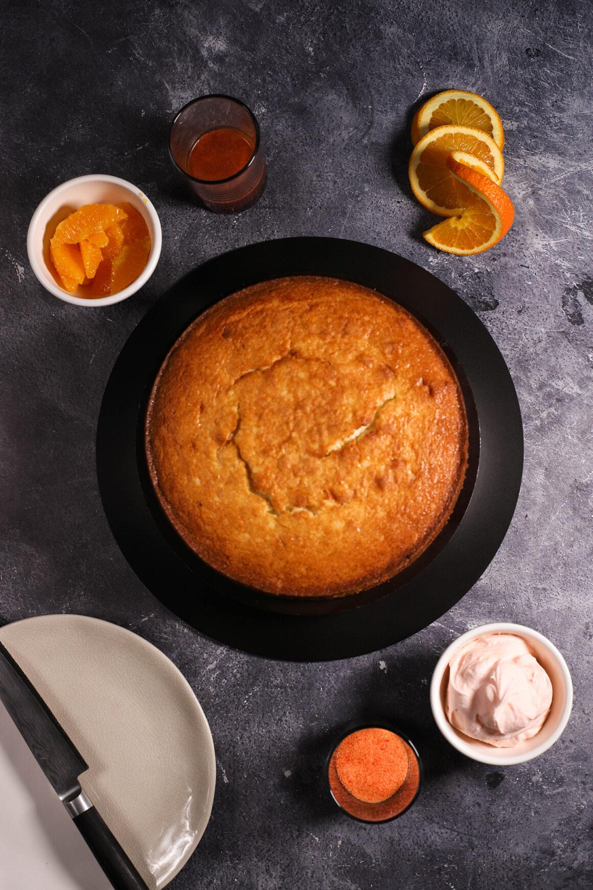 Orange Pound Cake Overhead