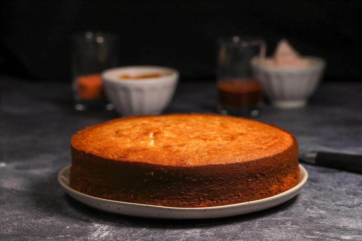 Orange Ricotta Pound Cake Closeup