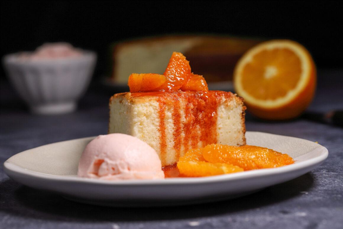 Orange Ricotta Pound Cake Slice