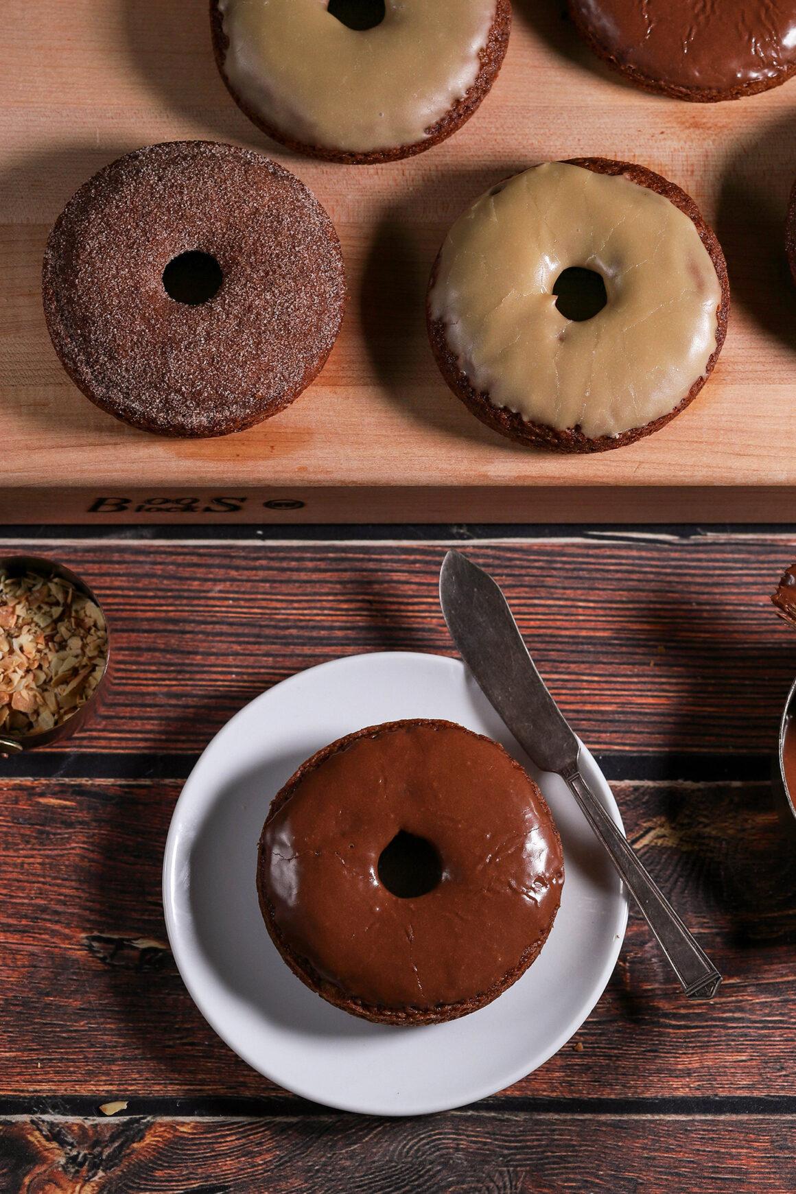 Chocolate Glazed Pear Doughnut