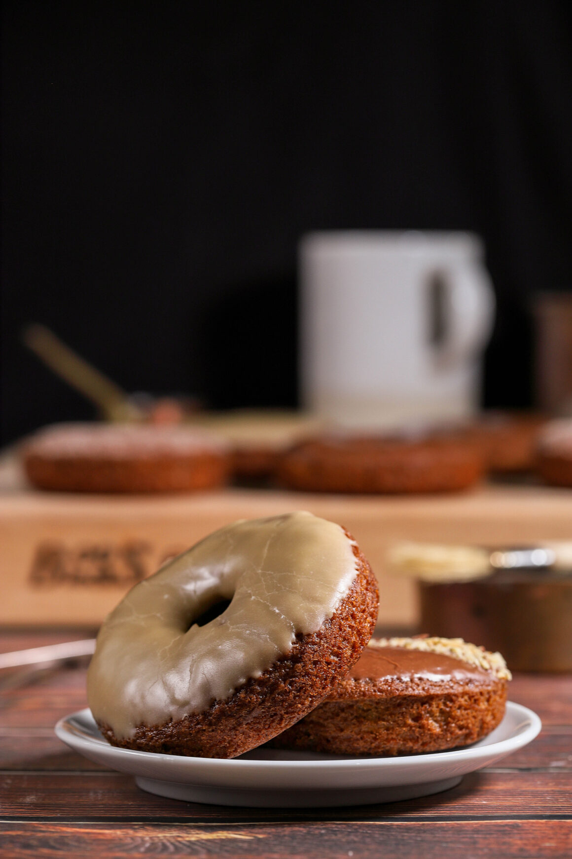 Pear Doughnuts on Plate