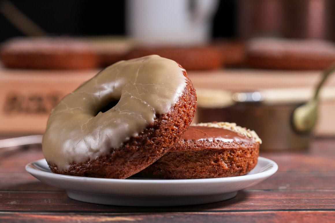 Pear Doughnuts Closeup