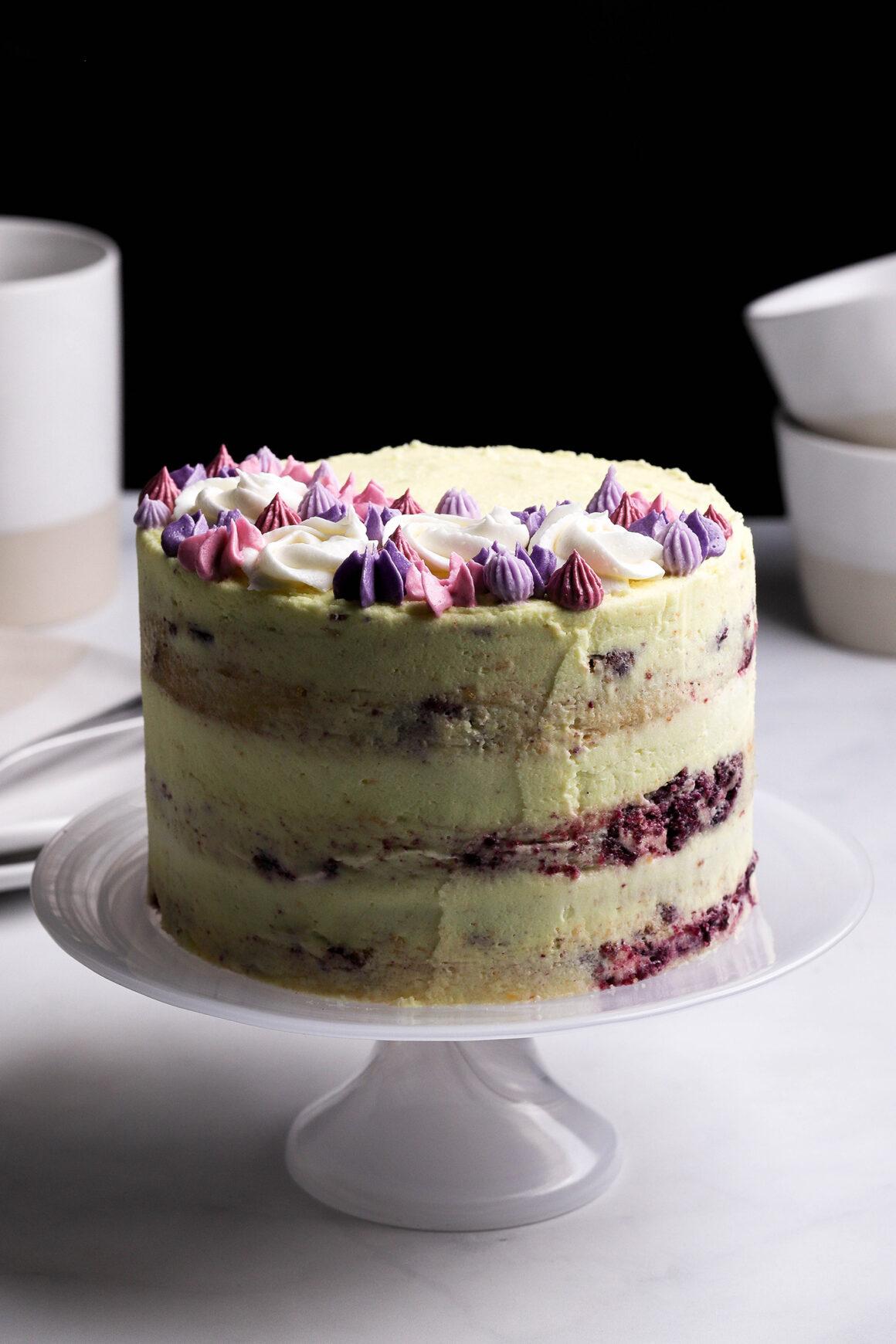 naked lemon blueberry cake