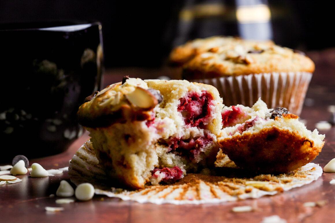 raspberry muffin unwrapped