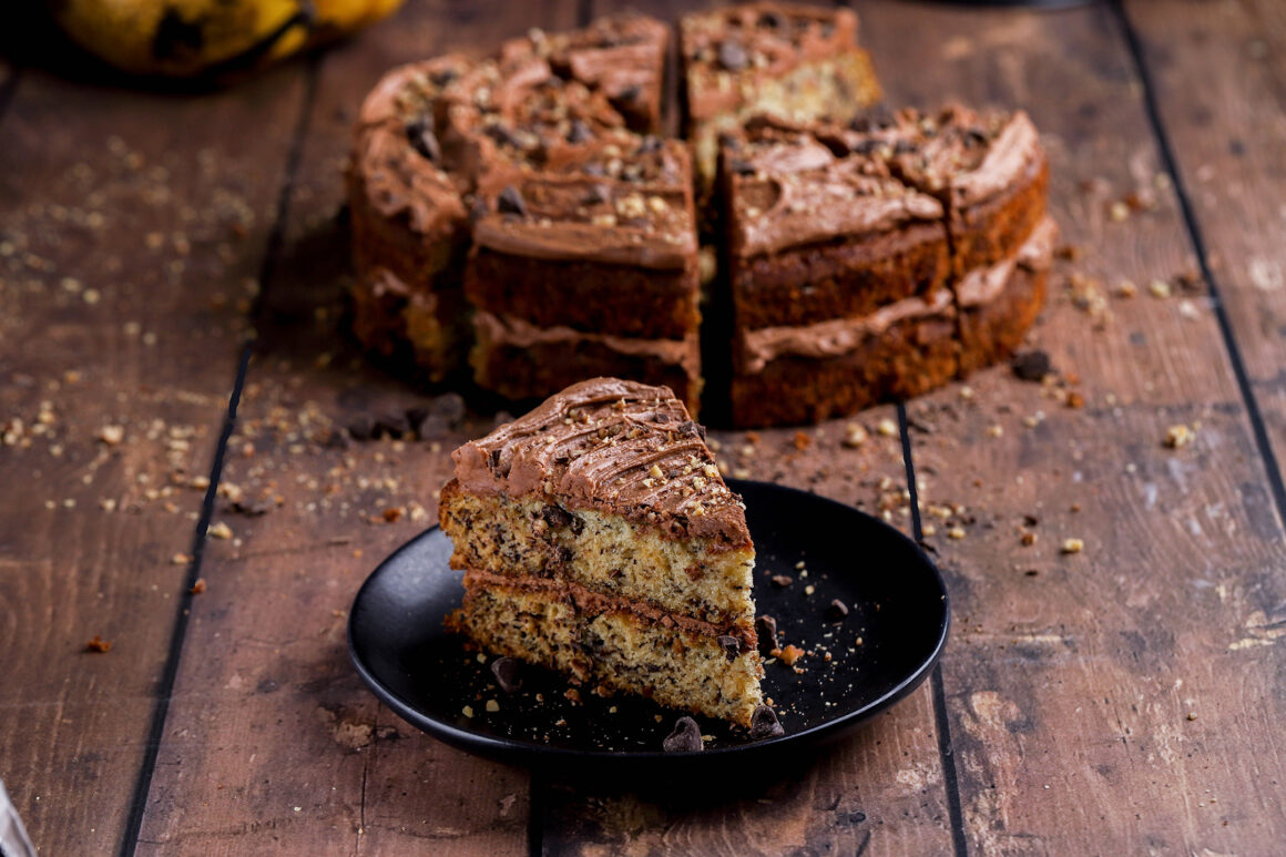banana pecan layer cake