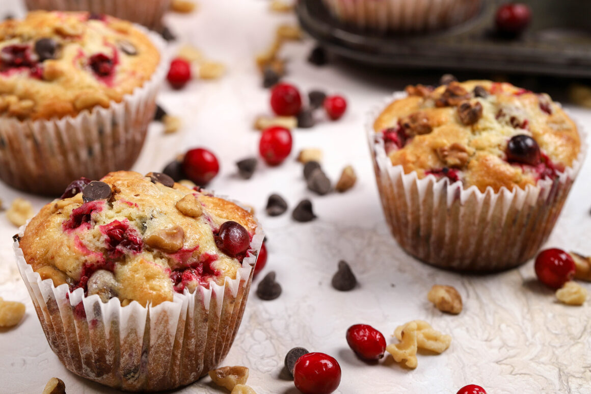 jumbo orange muffins with cranberries