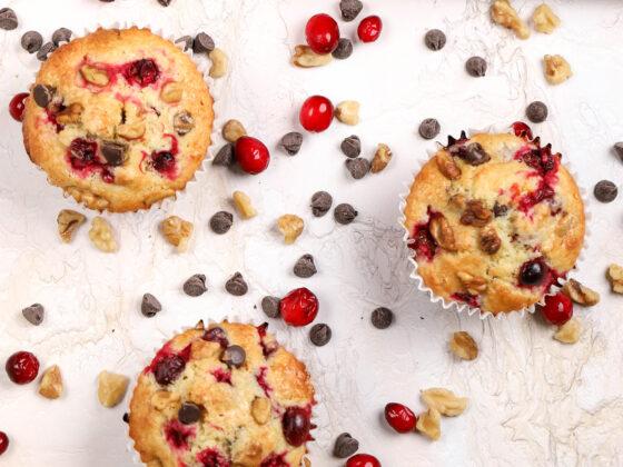 orange muffins with cranberries