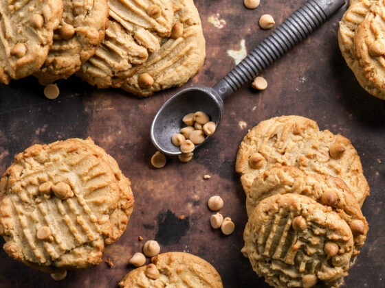 peanut butter cookies with peanut butter chips