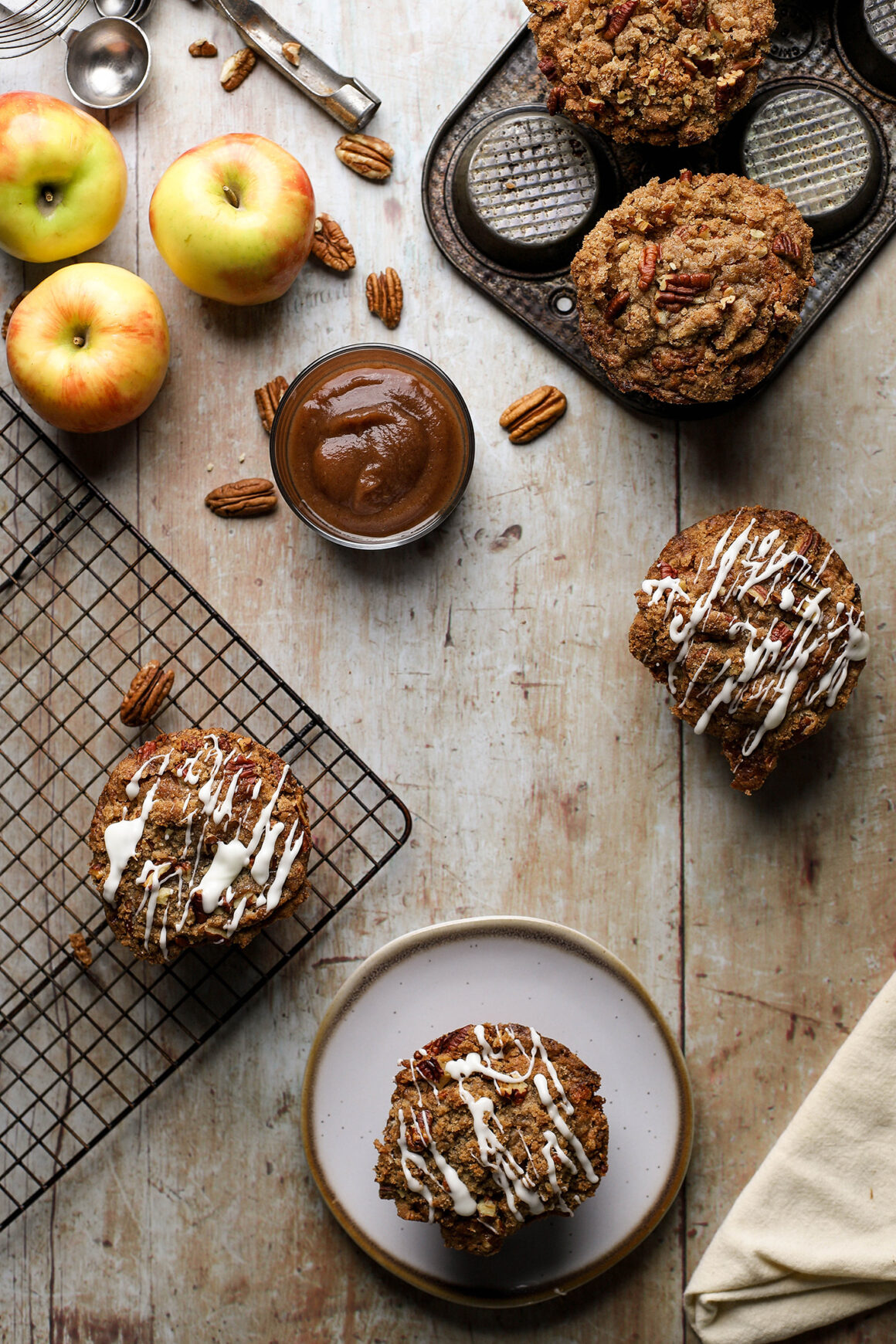 apple streusel muffins with apple butter tall