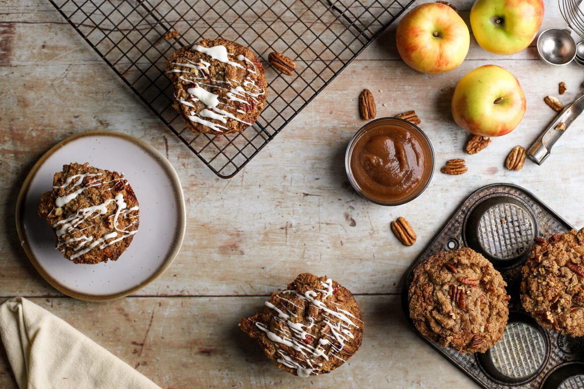 apple streusel muffins with apple butter wide