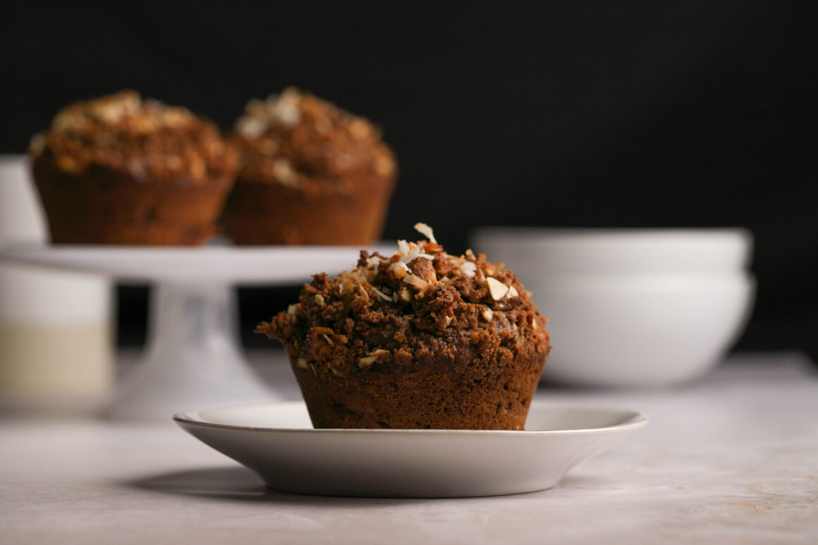 chocolate coconut muffin wide