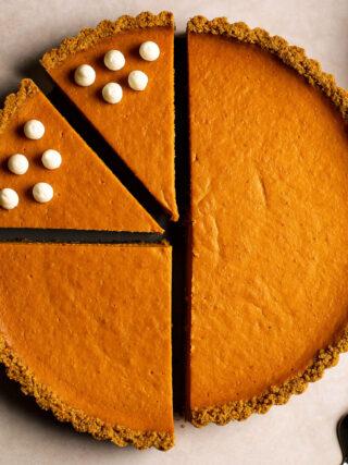 orange pumpkin tart
