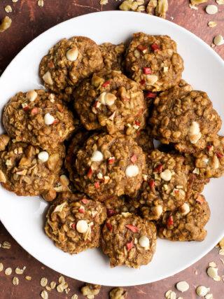 apple white chocolate oatmeal cookies