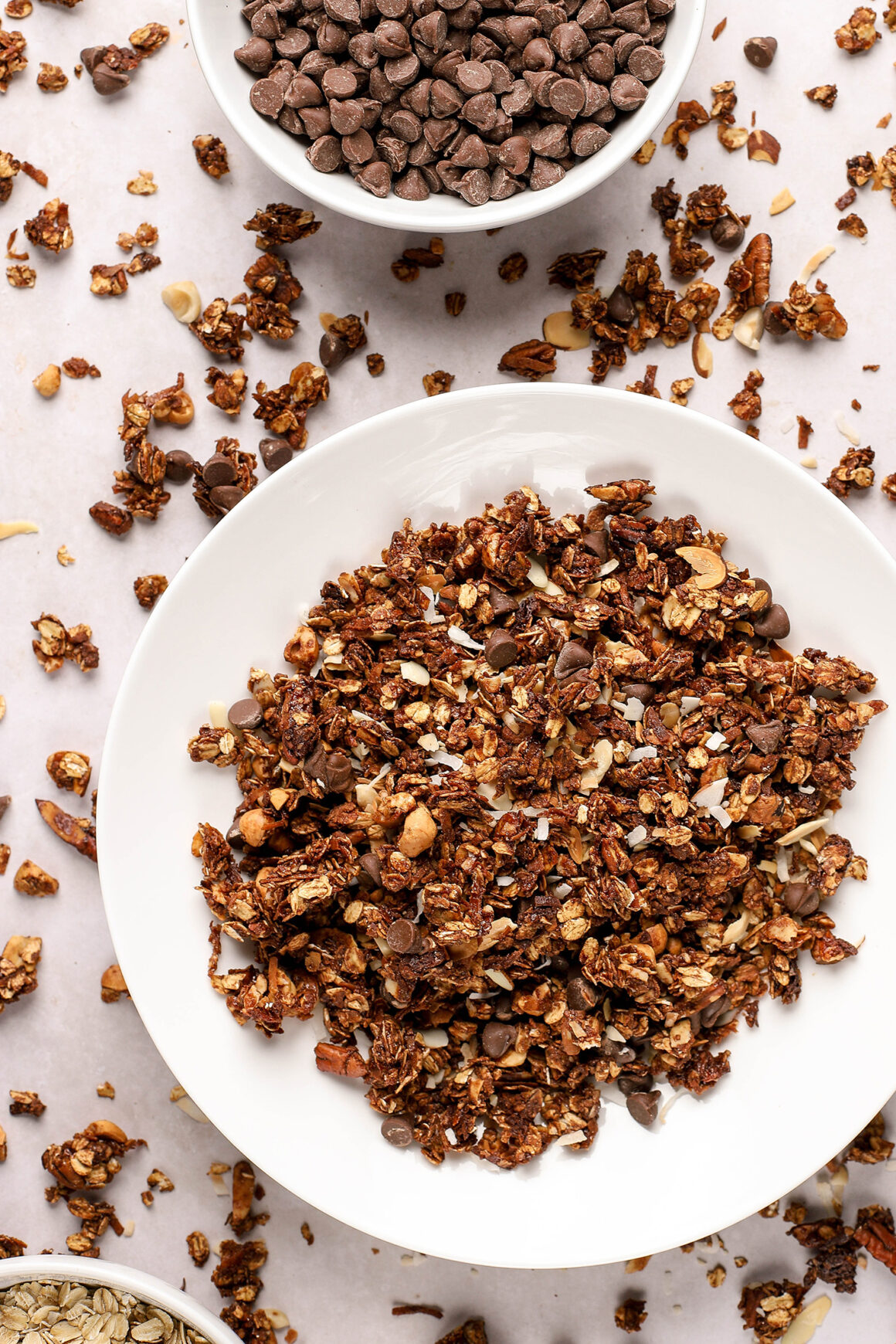 chocolate granola with nuts