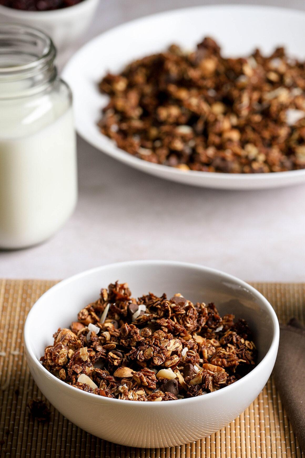 bowl of breakfast granola