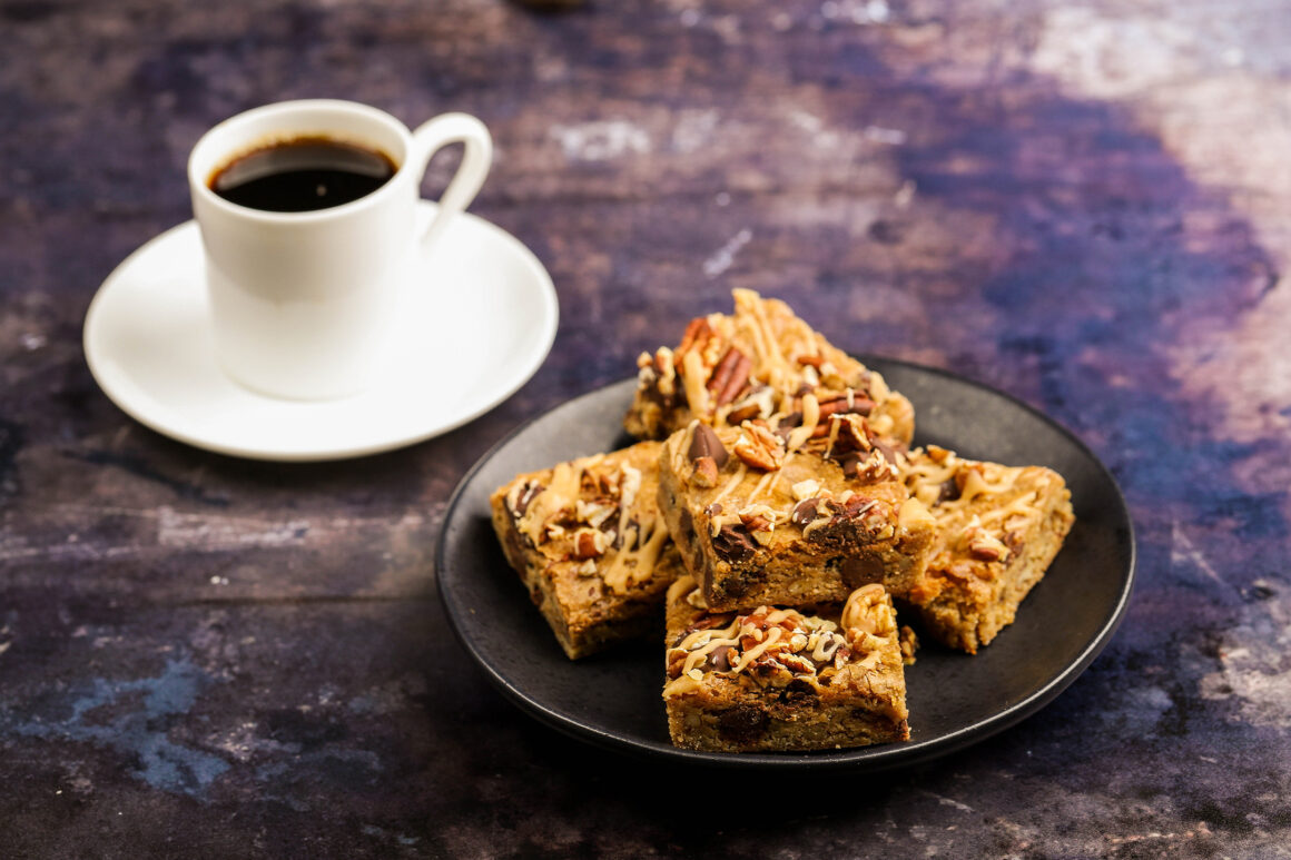 blondies with chocolate and nuts