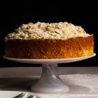 lemon cream crumble cake