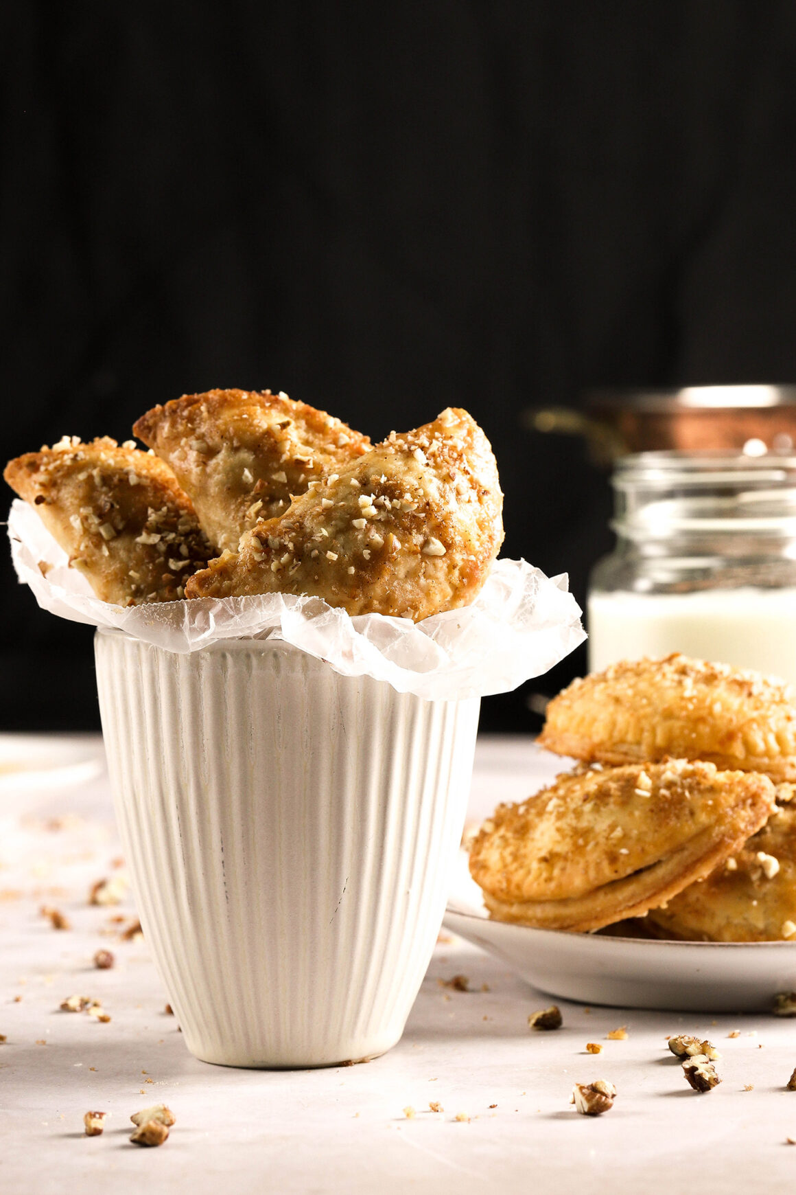 apple hand pies in serving cup