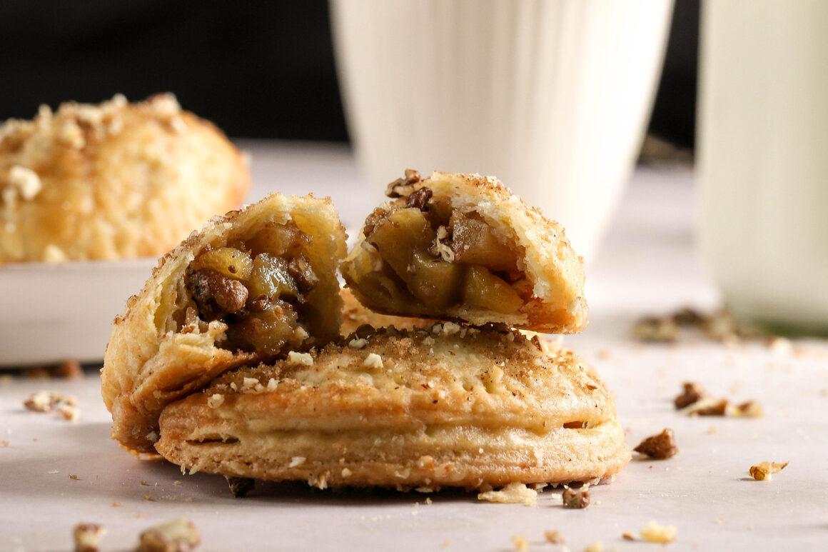 closeup of apple hand pie