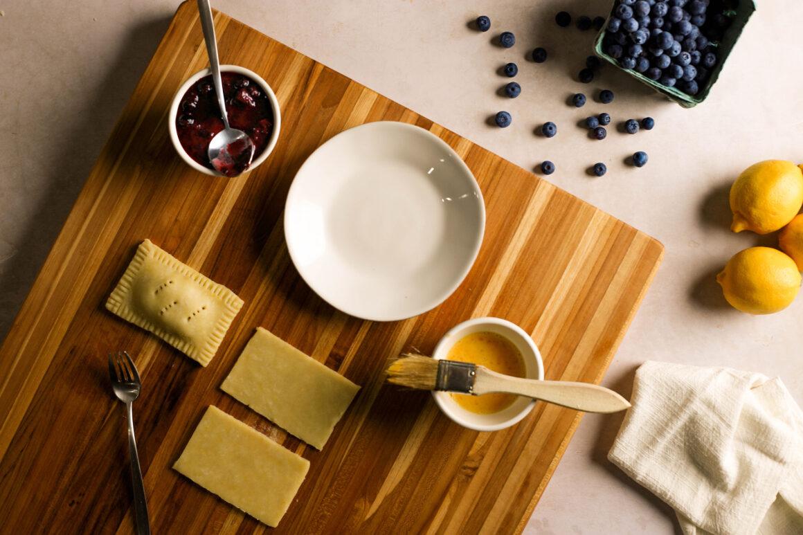 blueberry pop tart preparation