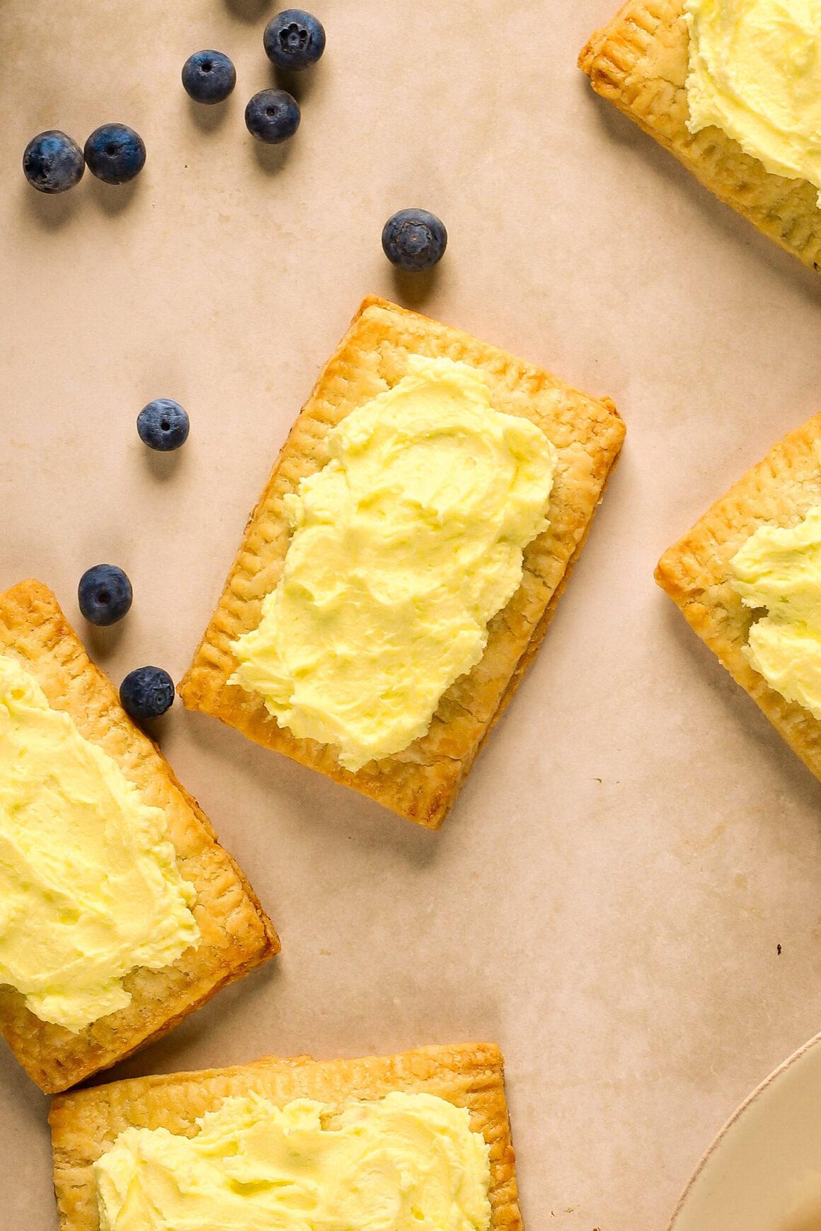 lemon frosted blueberry pop tarts
